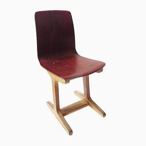 Deutscher Vintage Kinderstuhl mit Formsitz