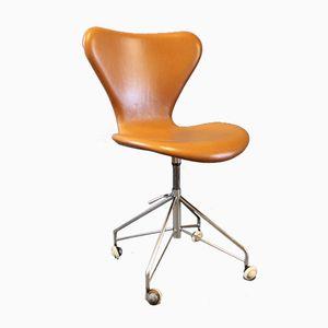Sedia da ufficio Seven modello nr. 3117 di Arne Jacobsen per Fritz Hansen, anni '50