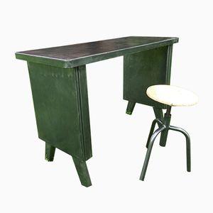 Schreibtisch & Hocker von Strafor, 1950er