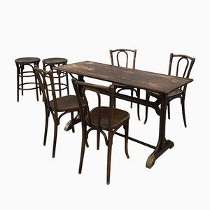 Esstisch & Stühle von Baumann, 1930er, 7er Set