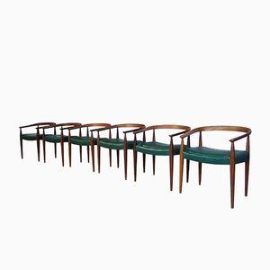 Modell 113 Esszimmerstühle von Nanna Ditzel für Poul Kolds Saværk, 1950er, 6er Set