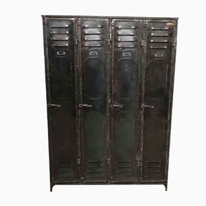 Vintage Locker Cabinets from Strafor, Set of 4