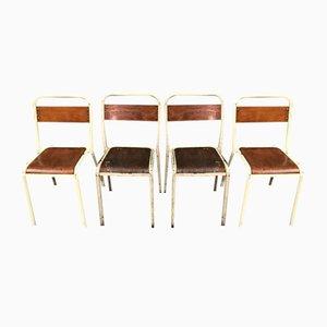 Tolix Klassenzimmerstühle von Xavier Pauchard, 1950er, 19er Set