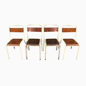 Tolix School Chairs by Xavier Pauchard, 1950s, Set of 19