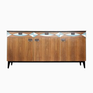 Mid-Century Modern Swedish Sideboard with Pattern, 1960s