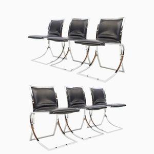 Chaises de Salon de Maison Jansen, 1970s, Set de 6