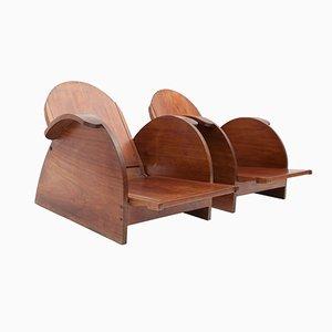 Verstellbare Mahagoni Stühle, 1950er, 2er Set