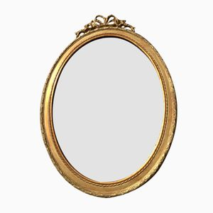 Gilded Oval Mirror, 1890s