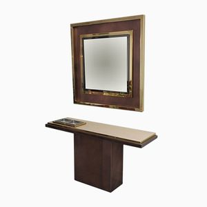 Vintage Console Table & Large Mirror from Belgo Chrom