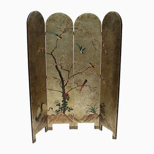 Mid-Century French Lacquered Screen