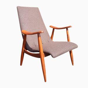 Niederländischer Mid-Century Armlehnstuhl von Louis van Teeffelen für WéBé
