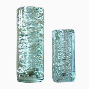 Mid-Century Vasen von Frantisek Vizner für Skrdlovice, 2er Set