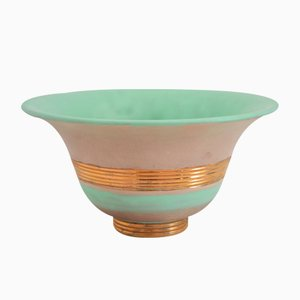 Hand-Painted & Gilt Ceramic Bowl by Gio Ponti for Richard Ginori, 1930s