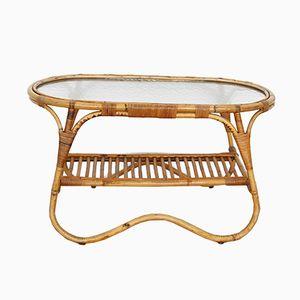 Table Basse Vintage en Rotin