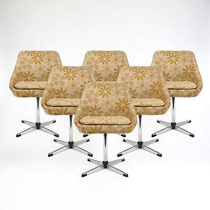 Sièges Pivotants avec Structure en Métal, 1960s, Set de 6