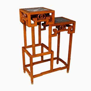 Chinesische Vintage Holz Etagère
