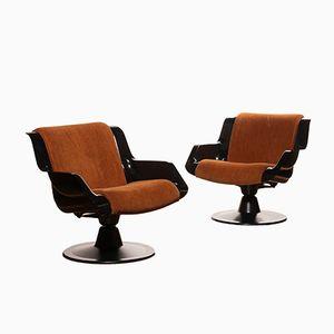 3814-1KF Chairs by Yrjö Kukkapuro for Haimi, 1960s, Set of 2