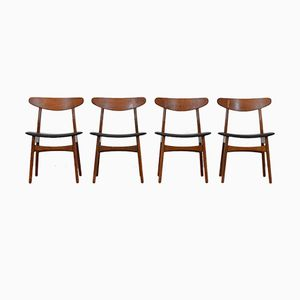 Mid-Century CH30 Chairs by Hans J. Wegner for Carl Hansen, Set of 4