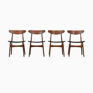 Mid-Century CH30 Stühle von Hans J. Wegner für Carl Hansen, 4er Set