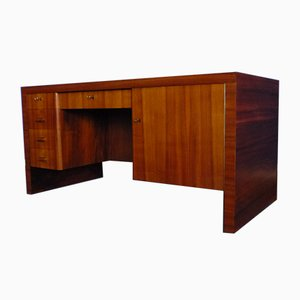 German Bauhaus Walnut Desk, 1930s