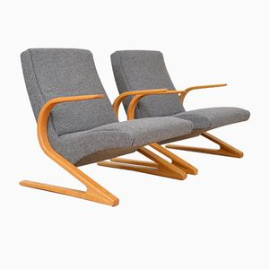 Mid-Century Lounge Chairs by Huldreich Altorfer for Aermo, Set of 2