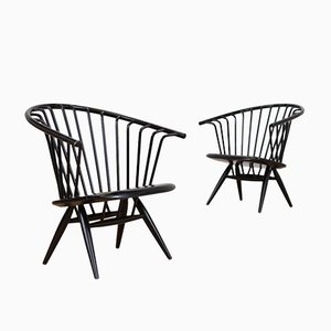 Mid-Century Crinolette Easy Chairs by Ilmari Tapiovaara for Asko, Set of 2