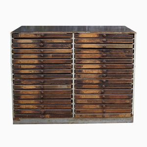 Antique French Printer's Chest
