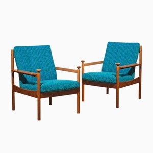 Lounge Chairs by Torbjørn Afdal for Sandvik & Co. Møbler, 1950s, Set of 2