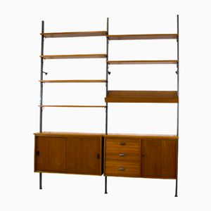 Swedish Teak Shelf System by Olof Pira for String, 1956
