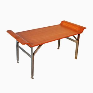 Mid-Century Steel & Wood Bench