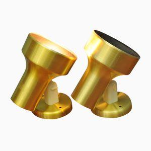 Goldfarbene Wandlampen von Belid, 1960er, 2er Set