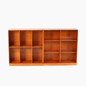 Mid-Century Oregon Pine Bookcase by Mogens Koch for Rud. Rasmussen