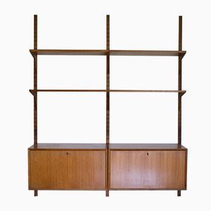 Mid-Century Teak Wall System by Poul Cadovius for Cado
