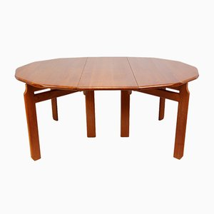 Dutch Solid Teak Dining Table, 1960s