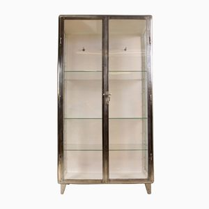 Polished Steel Medical Cabinet, 1930s