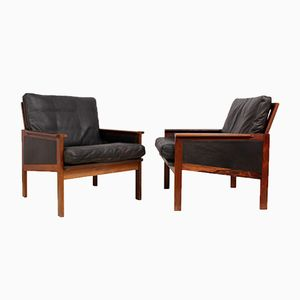 Mid-Century Capella Armchairs by Illum Wikkelso for Eilersen, 1960s, Set of 2