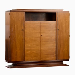 Vintage Art Deco Cabinet with Shelving