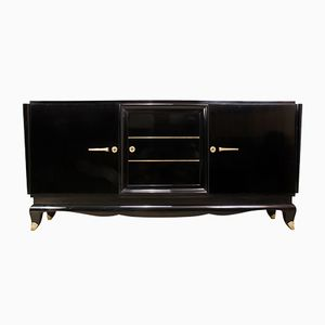 French Art Deco Black Sideboard, 1920s