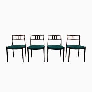 Chaises de Salon Modèle 79 en Palissandre par Niels Otto Møller, 1960s, Set de 4