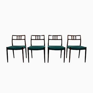 Model 79 Rosewood Dining Chairs by Niels Otto Møller, 1960s, Set of 4