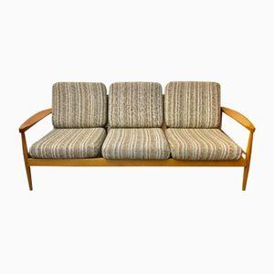 Mid-Century Wooden Sofa