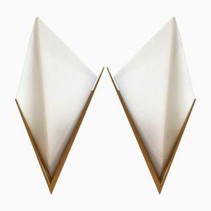 Lampade da parete a forma di prisma, anni '70, set di 2