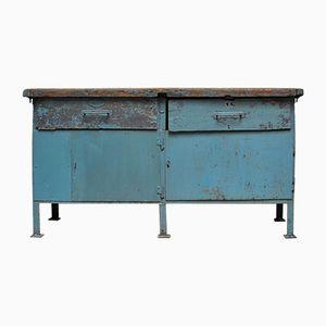 Tavolo da lavoro vintage industriale in ferro