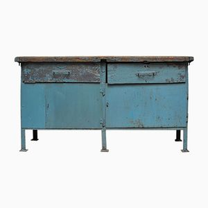 Vintage Industrial Iron Workbench