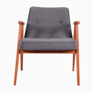 Polish Model 366 Grey Armchair by Jozef Chierowski, 1960s