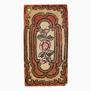 Antique American Hooked Handmade Rug, 1900s