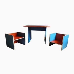 Set di tavolo e sedie da bambino, anni '70