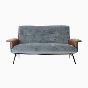 Italian Sofa with Skai Armrests, 1950s