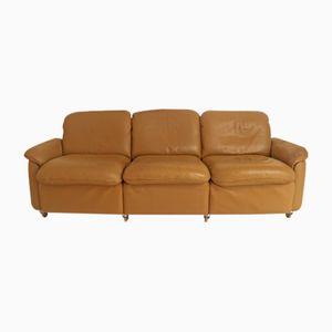 Vintage Drei-Sitzer Ledersofa von de Sede