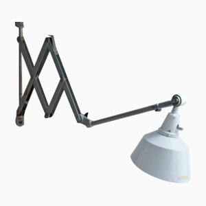 Lampe Ciseaux 1000-II Gris-bleu par Curt Fischer pour Industriewerke Auma